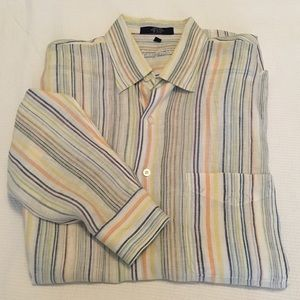 Alan Flusser striped linen shirt